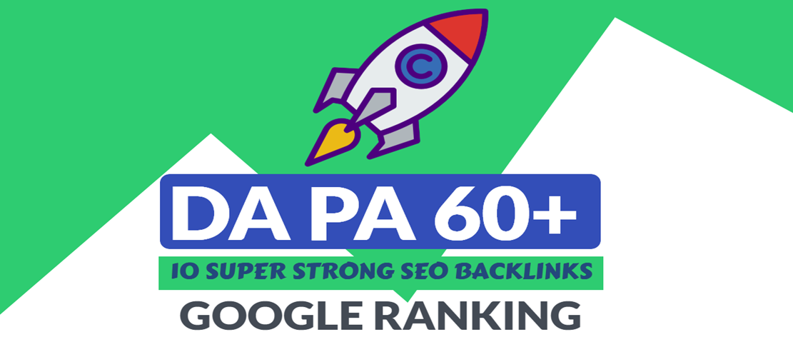 I will create 10 STRONG DA-PA 60+ Seo Backlinks,  Link building