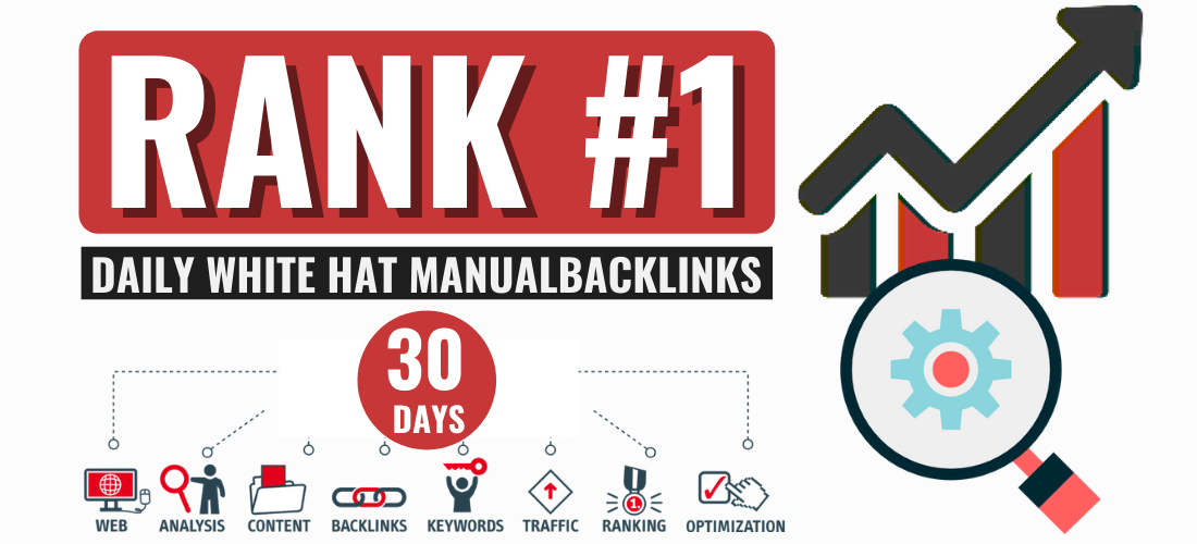 Monthly off page seo link building,  daily backlinks