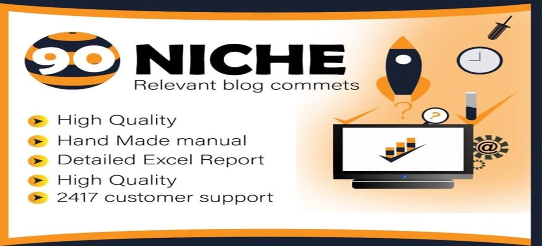 90 niche relevant blog comments backlinks