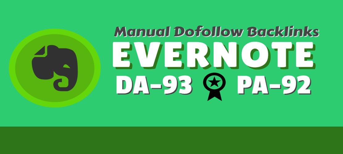 I will create Evernote DA-93 PA-92 Dofollow seo backlink