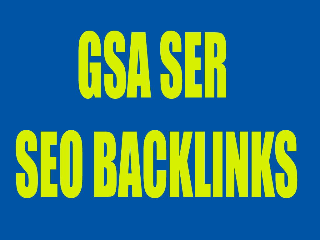 500,000 High Quality Verified GSA SEO Backlinks