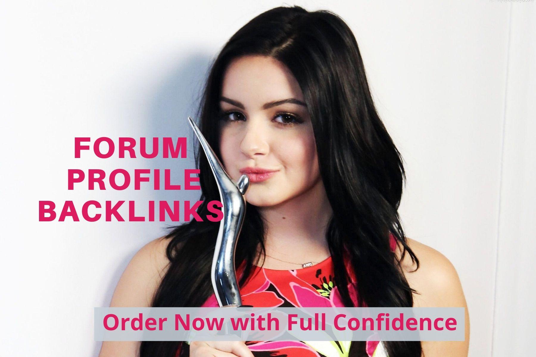 do manually create 500+ forums Profile SEO high authority backlinks for Google ranking