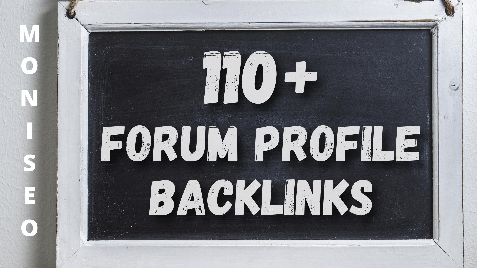 Create 110+ forum profile backlink High Authority SEO Backlinks Services