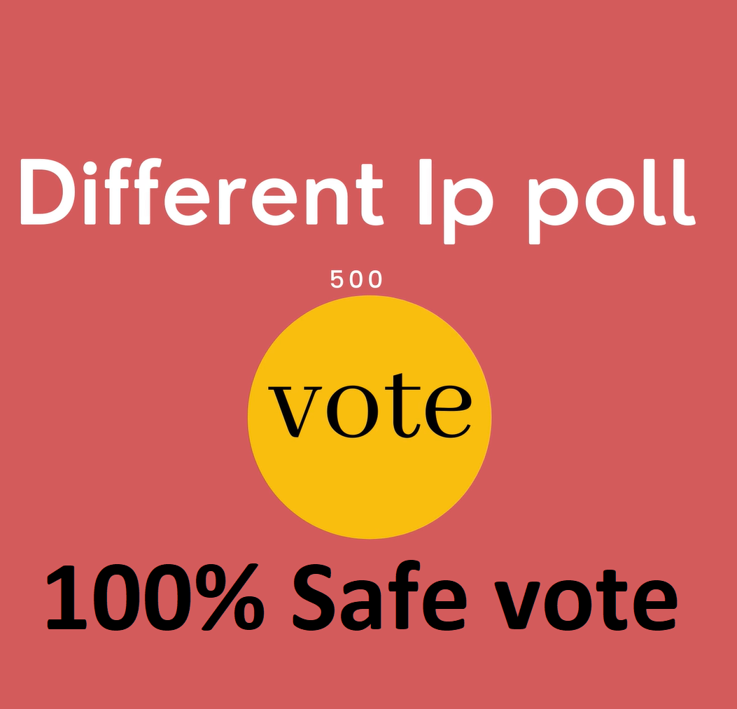 Too fast 500 Different ip votes on your online poll