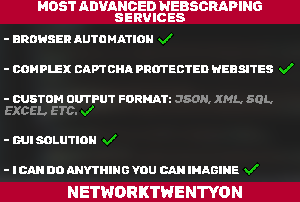 I will create web scraper,  web crawler and bots to automate task