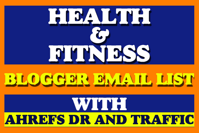 I will Provide You 100 Health and Fitness Guest Posting Site Email List For Outreach Campaign