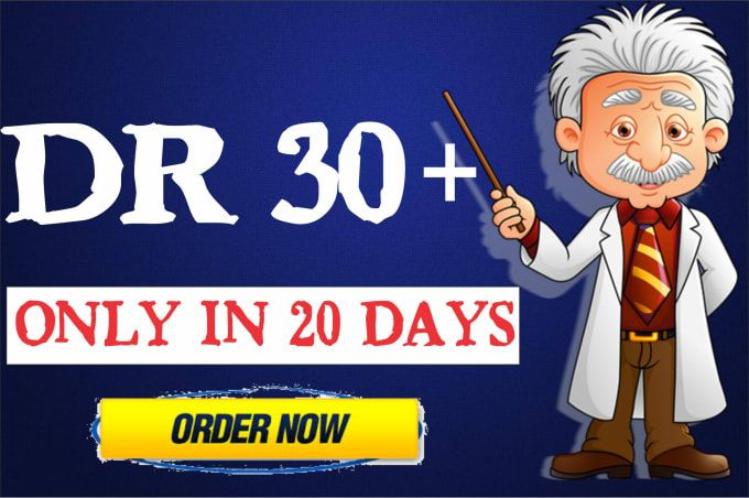 I will increase domain rating DR ahrefs 30 Plus with dofollow backlinks
