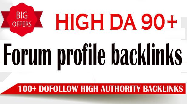 create 100 high da dofollow pr9 forum profile backlinks
