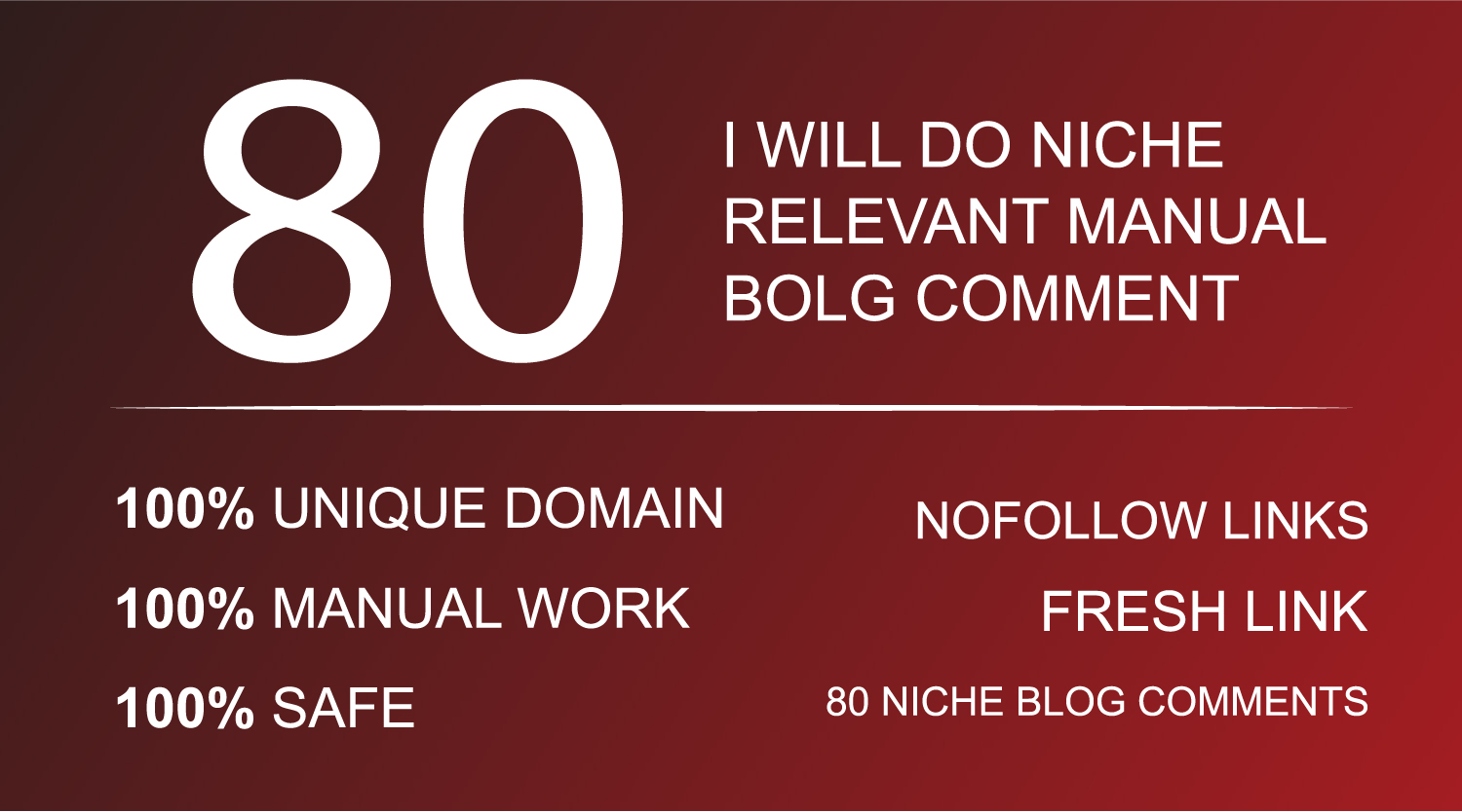 80 Niche Relevant Blog Comments Manual