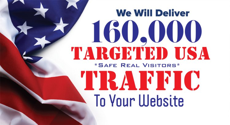 GET 160,000 USA Real Human Visitors To Your Website I...