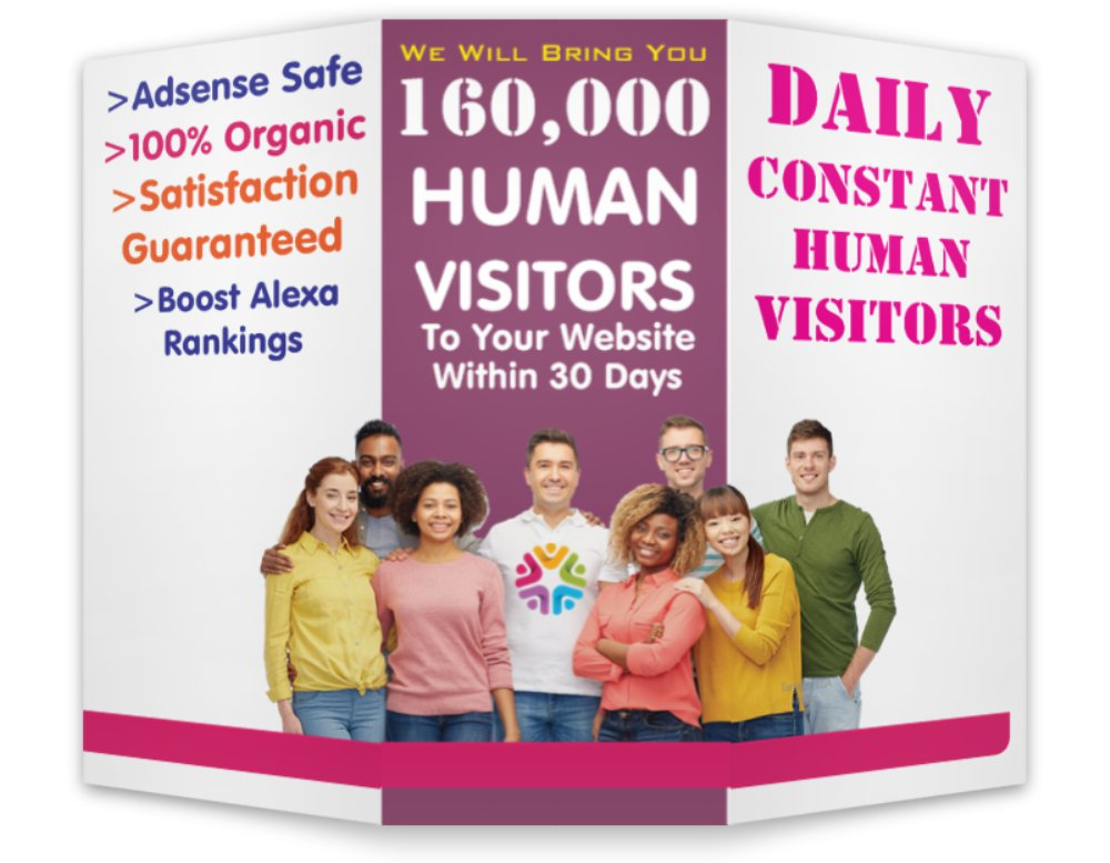 Let Us Drive 160,000 Worldwide Real Human Visitors To Your Website In 30 Days