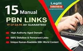 15 Manual HIGH TF CF DA PA 25+ to 10 Dofollow PBN Backlinks
