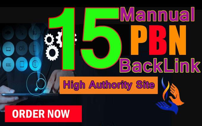 Build 15 Manual HIGH TF CF DA PA 30 to 10 Dofollow PBN Backlink