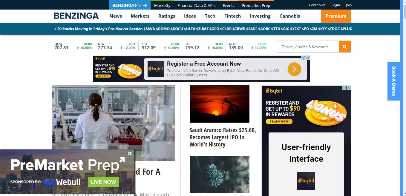publish your article Da 84 benzinga com PR High premium site