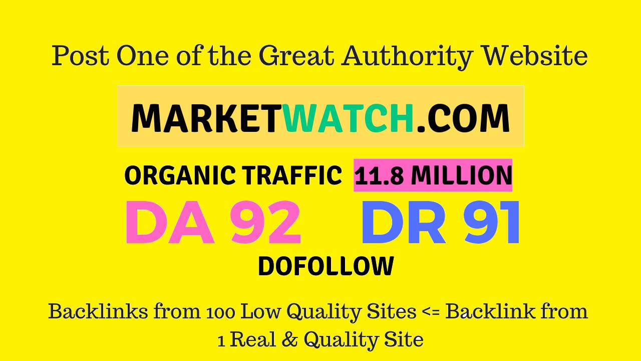 guest post on marketwatch da92 news site