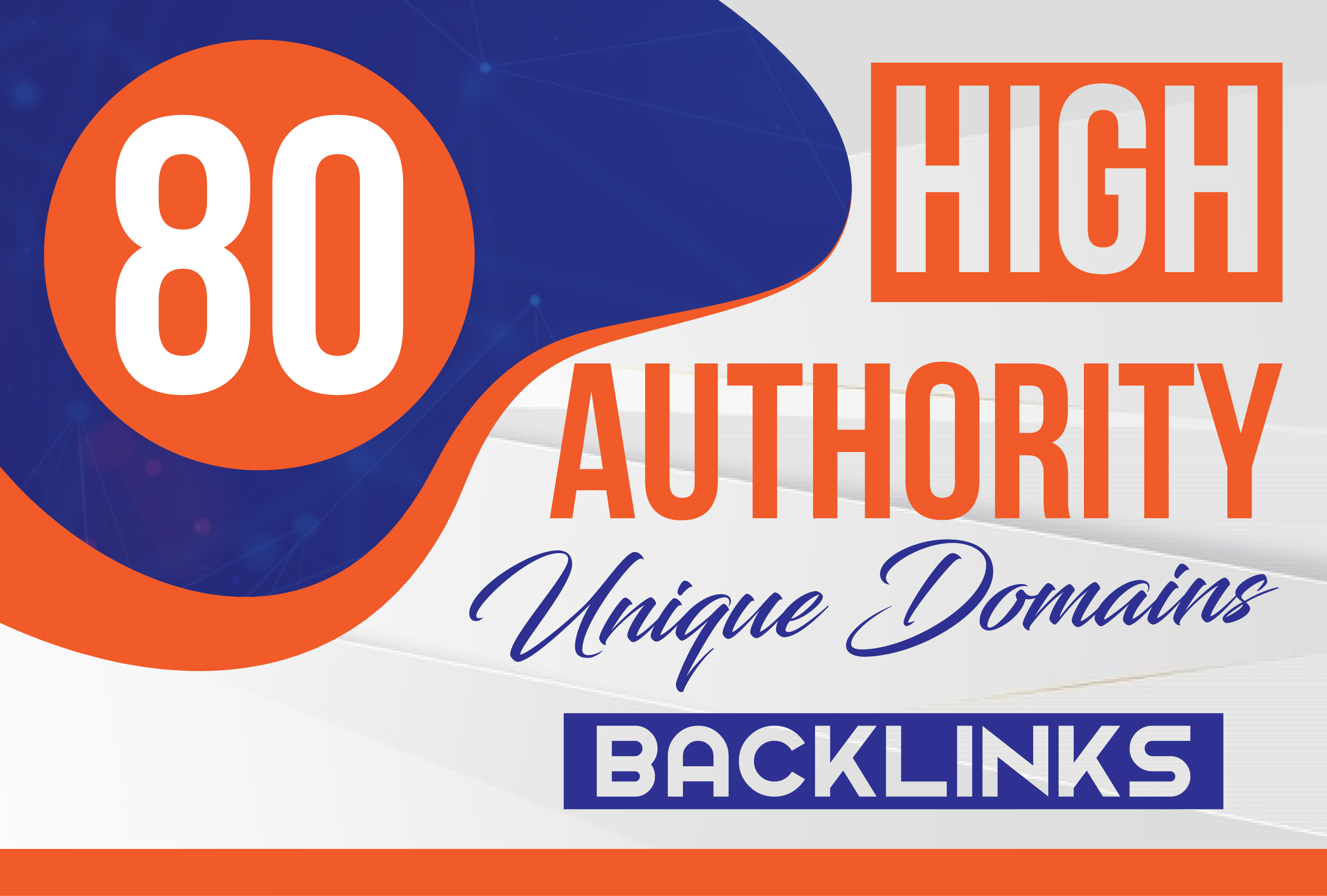 MANUALLY Do 80 DA UNIQUE PR10 SEO BackIinks on DA100 sites for