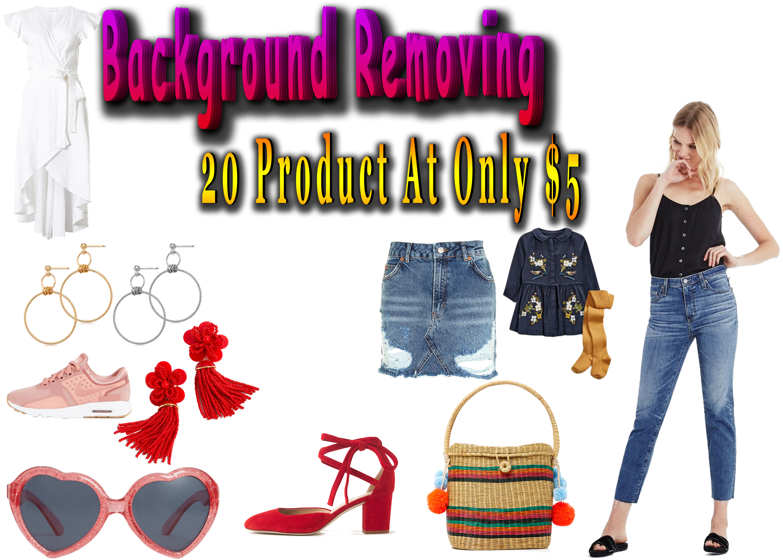 I will make your photo background transparent