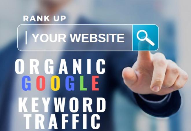 drive google organic search traffic using targeted keywords