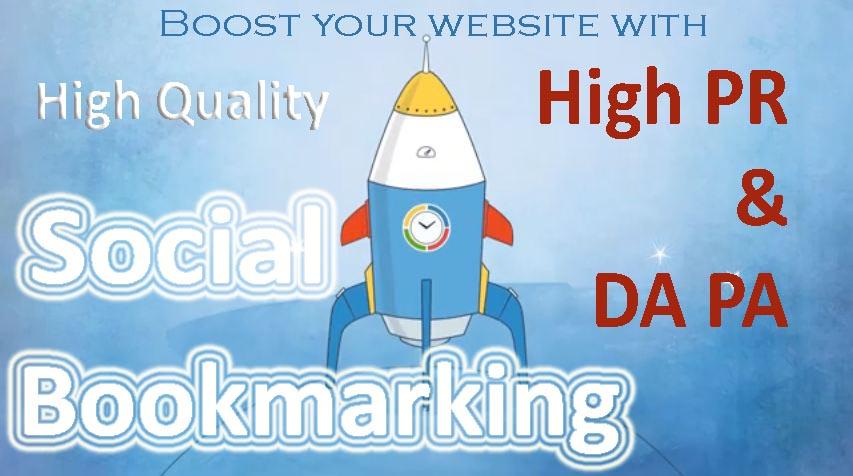 Manually create 30 Social Bookmarking Backlink in High PR & DA PA sites
