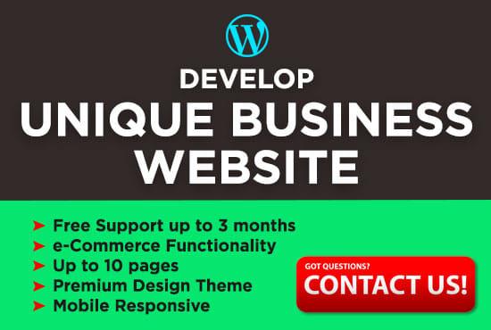 Professional,  Unique Wordpress Business Website