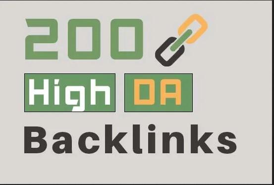 200 high da backlinks service for your SEO service