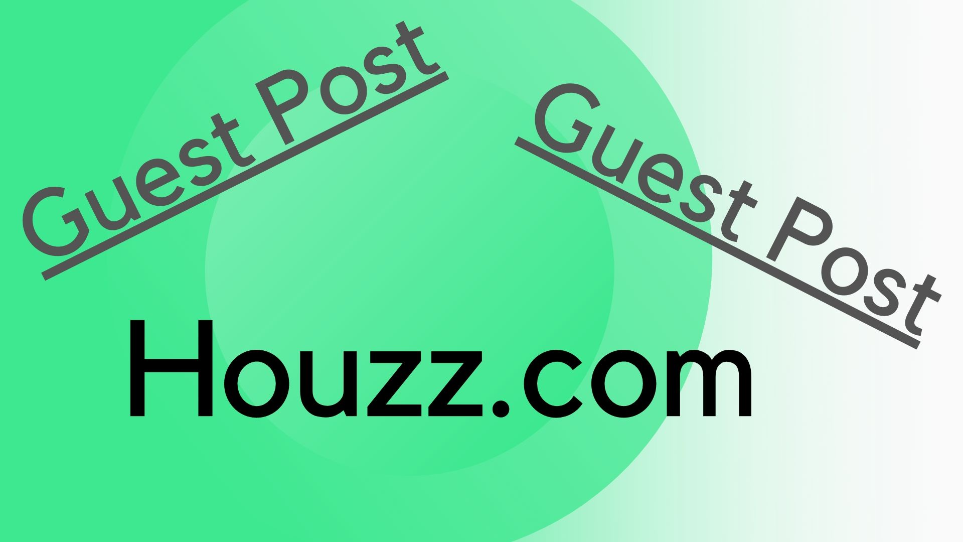 Write and publish guest post houzz. com/