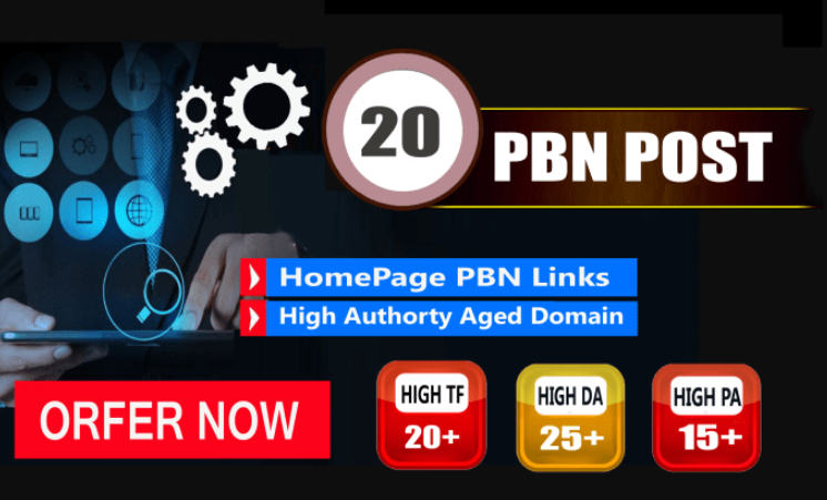 Provide 20 Pbn Links Dofollow Backlinks PBN