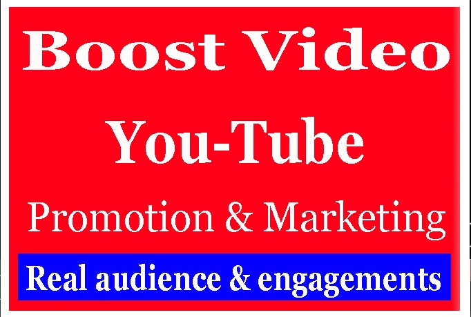 Best YouTube Video Promotion and very fast Delivery