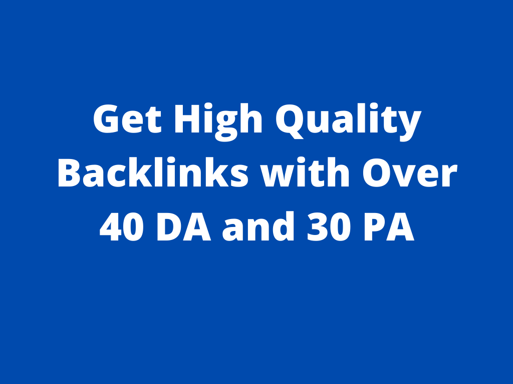 I WILL Create 1 high quality backlinks with over 40 DA and 30 PA