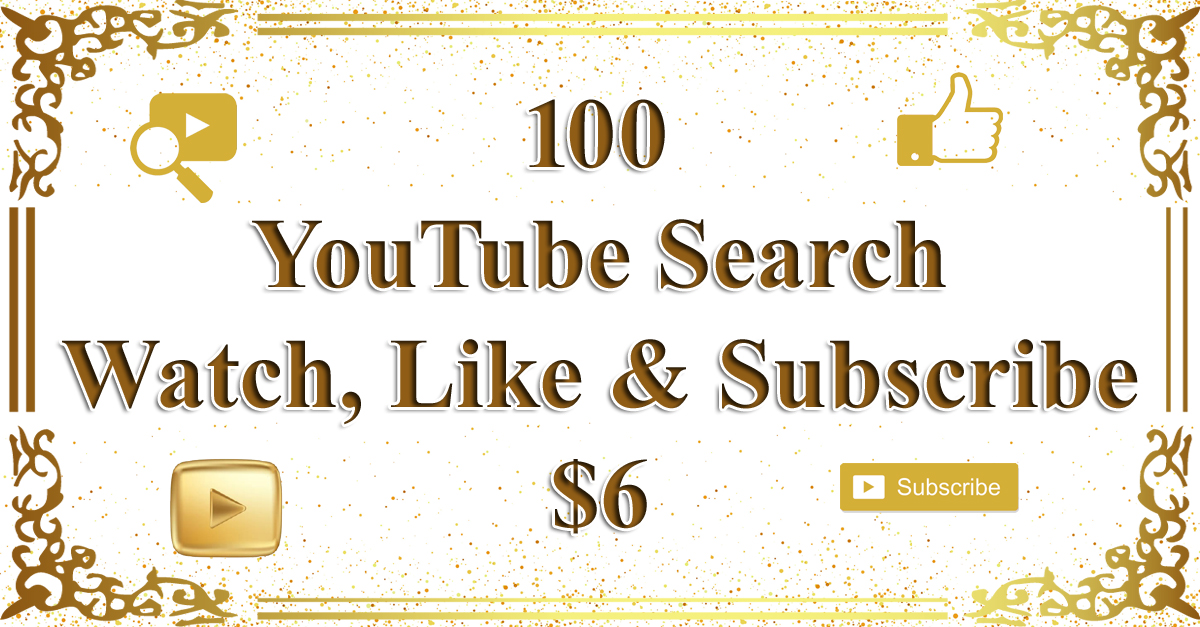 100 YouTube Search+Watch Video Promotion from Real Humans
