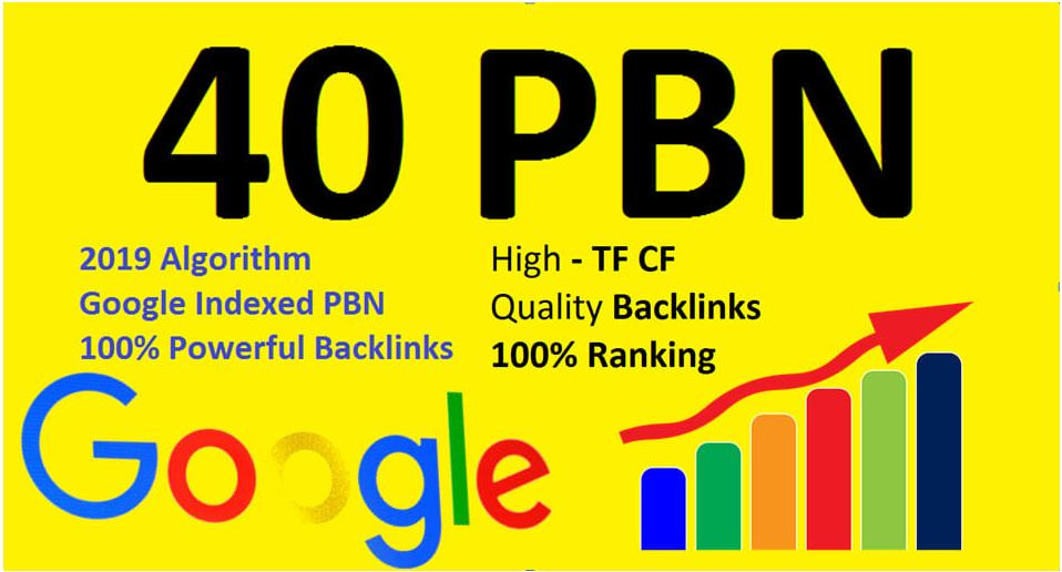I will create 40 PBN links new update SEO backlinks 2019