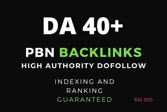 Provide you 3 DA 40+ PBN Backlinks
