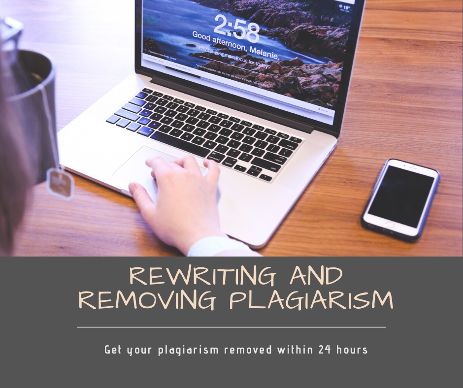 Rewrite and remove plagiarism of 1000 words within 24 hours