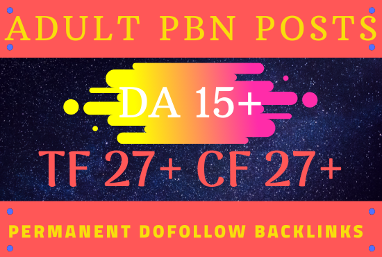 5 PBN dofollow backlinks in Adult niche - Improve your Adult SEO and get quality link building