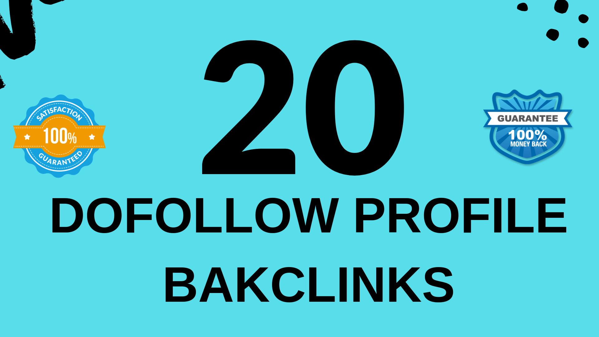 Create 20 dofollow profile backlinks