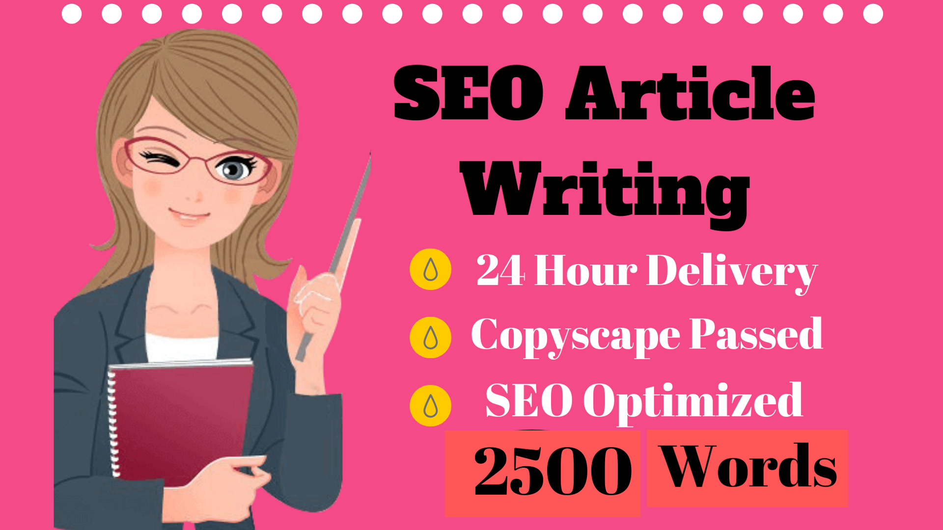 Write 2500 Words SEO Article,  Blog Post,  And Website Content
