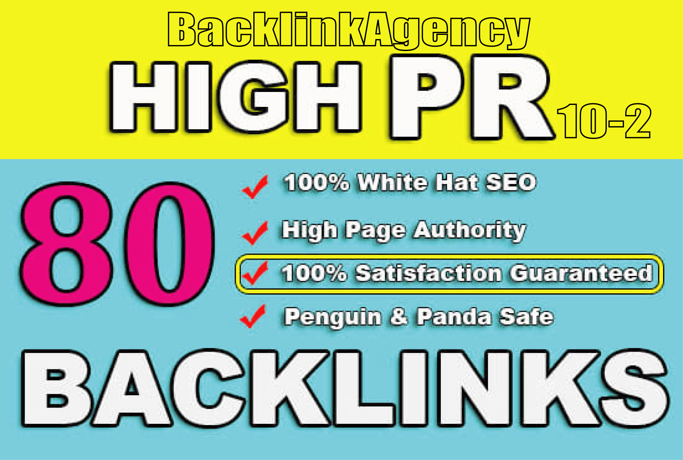 build 80 high authority usa SEO dofollow backlinks