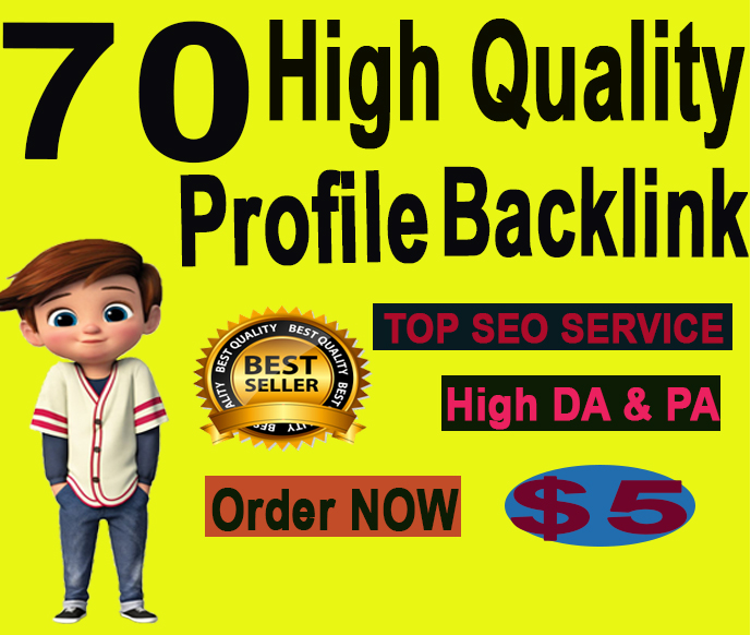 Manually Create 70+ High Dofollow Authority Profile Backlinks