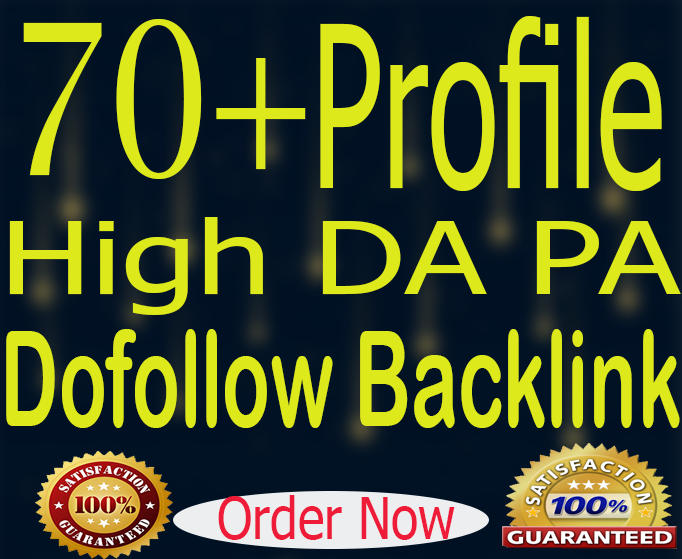 Manually Create 70+ High Dofollow Authority Profile Backlinks
