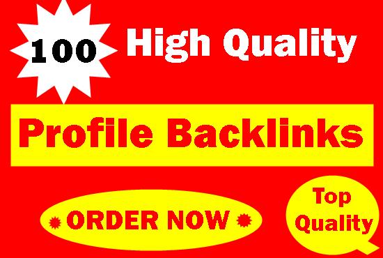 100 Pr9 To Pr6 Manually Create Authority Profile Backlinks-Top service