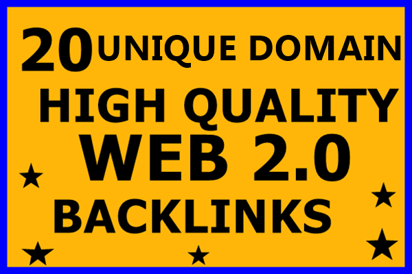 Create 20 High DA Web 2.0 SEO Backlinks Contextual Un...