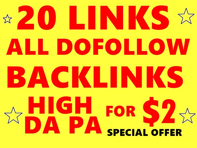 20 High DA PA Dofollow profile backlinks to RANK your website Google Friendly Websites