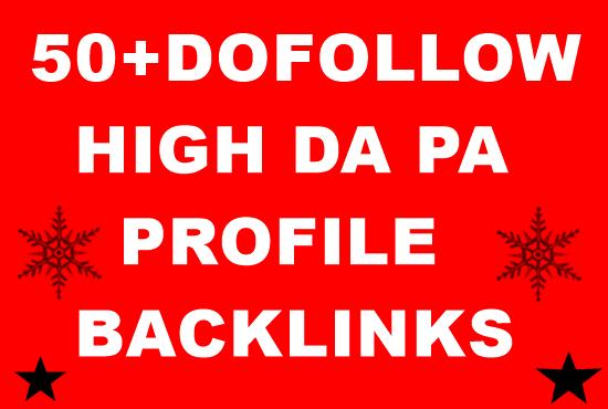 Create 50+ Dofollow profile Backlinks Manually