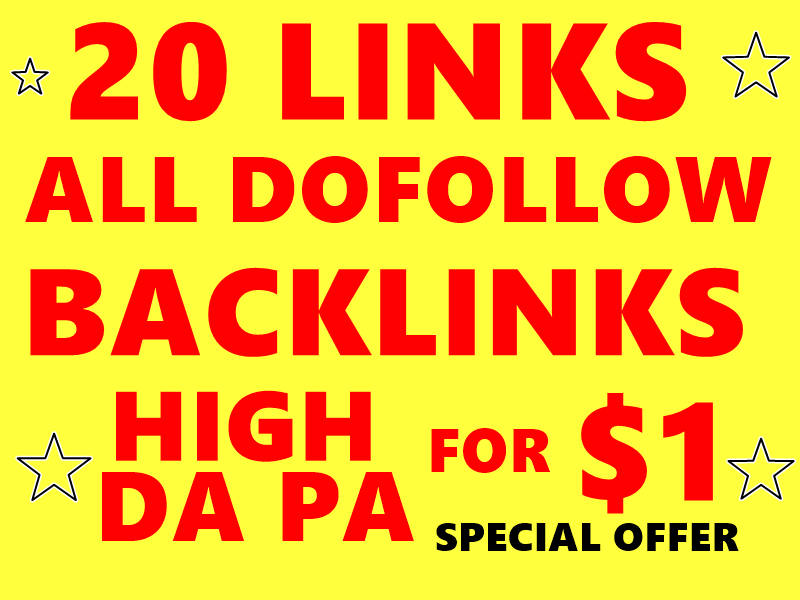 20 High DA PA Dofollow profile backlinks to RANK your...