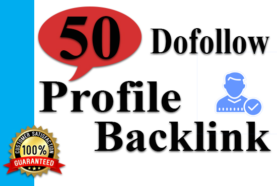 Create 50 Dofollow Profile Backlink