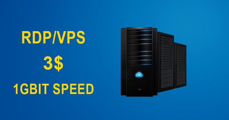 VPS/RDP Server 1GB Ram - 1GBIT Speed - 50GB SSD