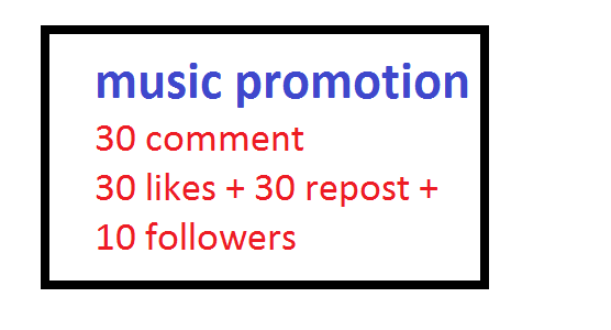 Music promotion only for your track boost