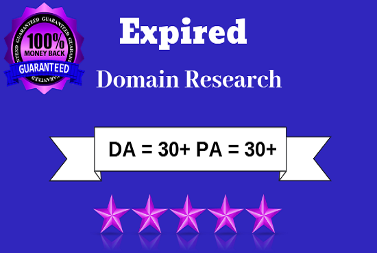 4 High quality expired domain Research With Powerful Metric
