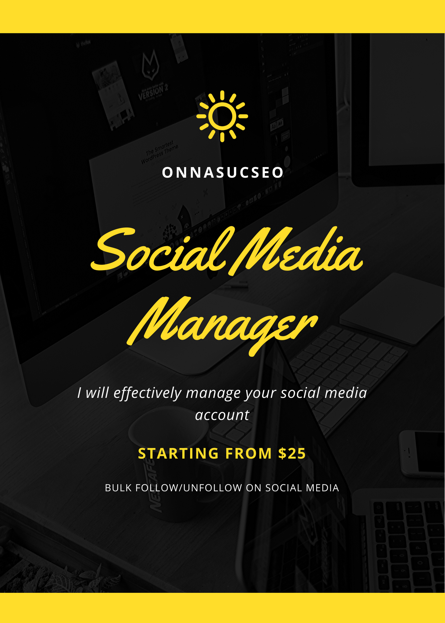 I will be your trusted social media manager