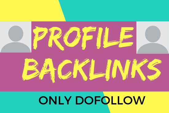 Create Manuall High pr/dr 80+ Profile Backlinks.